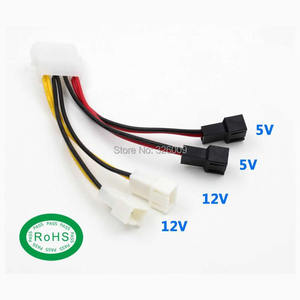 ARSYLID Converte Cable D 4pin Converted 3pin 4 set 12V 5V 3pin 4pin fan Convert cable 2510 mini 3pin connector 12cm RoHS