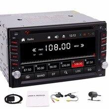 Camera 2Din Car Autoradio Stereo Deck Head Unit Steering Wheel Control GPS Navigation Audio Bluetooth DVD