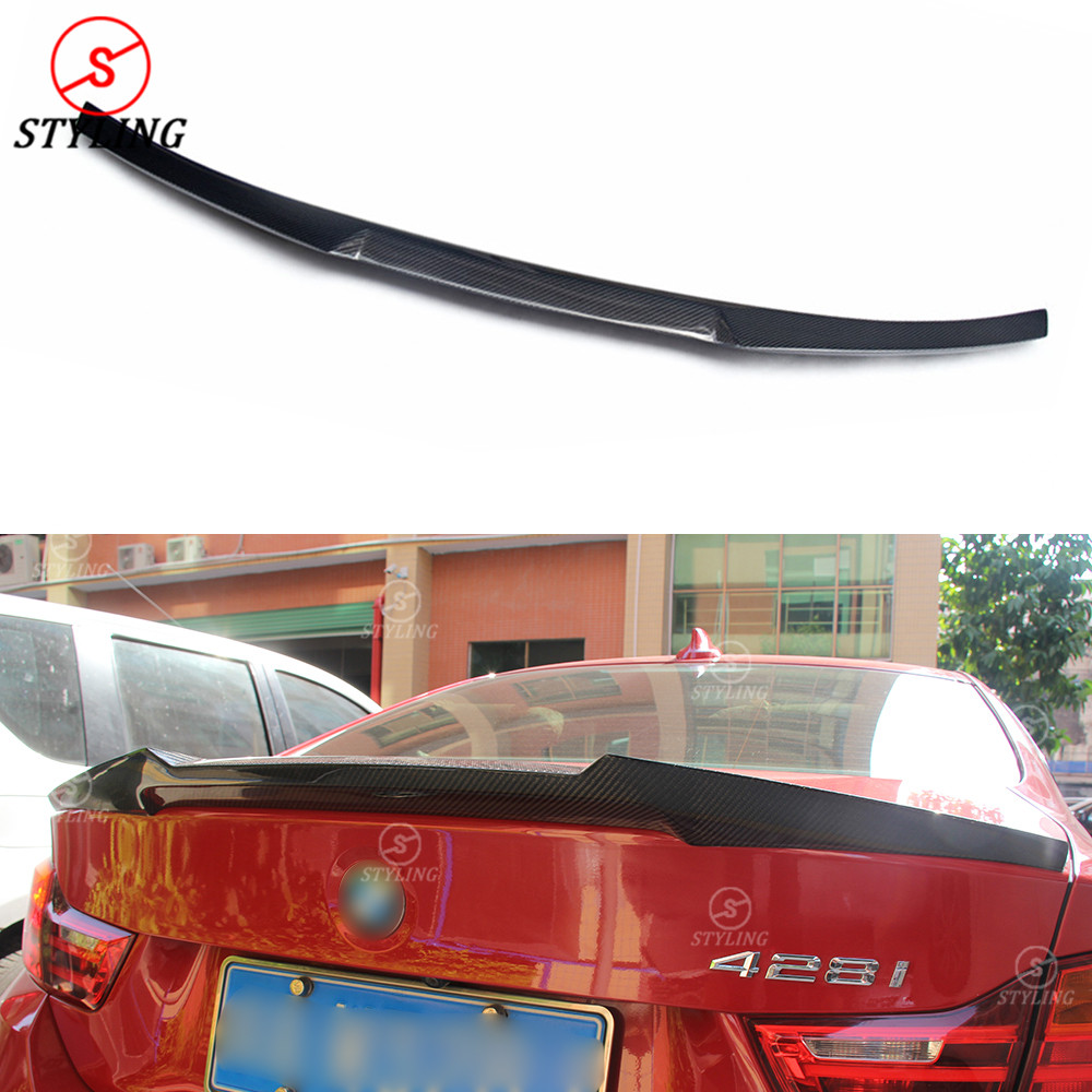 For BMW 4 Series F32 420I 428I 435I Carbon Fiber Spoiler New M4 Style Carbon Fiber Rear trunk wing rear spoiler Coupe 2014 - UP for bmw 4 series f32 coupe 420i 428i 430i 435i carbon fiber rear spoiler performance style 2014 2015 2016 2017