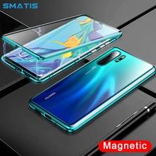 Магнитный абсорбционный чехол для телефона iPhone XS Max X XR 7 8 6 6 S Plus, роскошный противоударный прозрачный чехол из закаленного стекла, откидные Чехлы, Капа