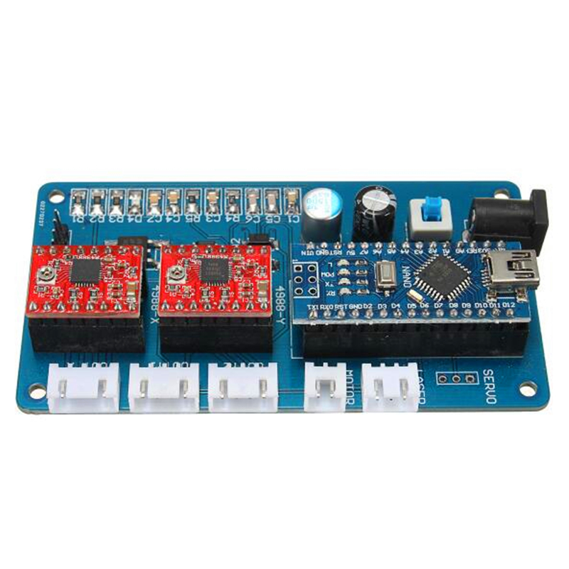 все цены на Free shipping 2-axis stepper motor USB driver board control board 12V for CNC DIY desktop laser engraving machine GRBL