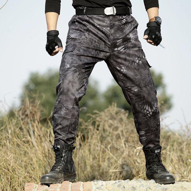 As forças armadas Camuflam Carga Calças de Combate Do Exército de Alta Qualidade Harém Dos Homens Calça de Trabalho Tático Homens Pantalon Homme Moletom Basculador