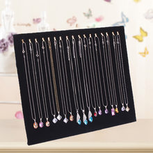 Fashion Velvet 17 Hook Necklace Display Stand Women Lady Jewelry Organizer Holder Storage Case Bracelet Display Rack HY(China)