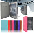 folio pu leather case for Amazon kindle basic 4/5 fro kindle 4/5 case  generation magnet cover+screen protector