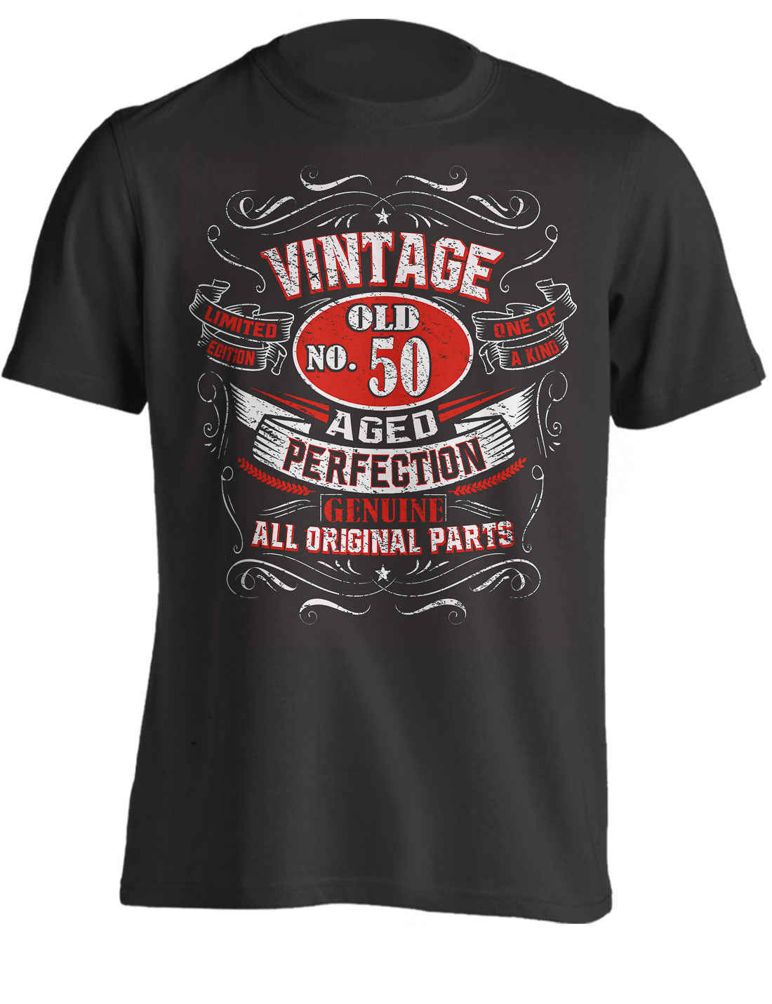 2db5882b 50th Birthday Gift Shirt Vintage No 50 Born in 1969 | T-Shirt Cool Casual