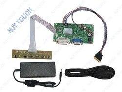 DVI DVA kontroler LCD płyta sterownicza LVDS zestaw do LTN156AT05 1366x768 LED Panel + 12 V 4A zasilacz