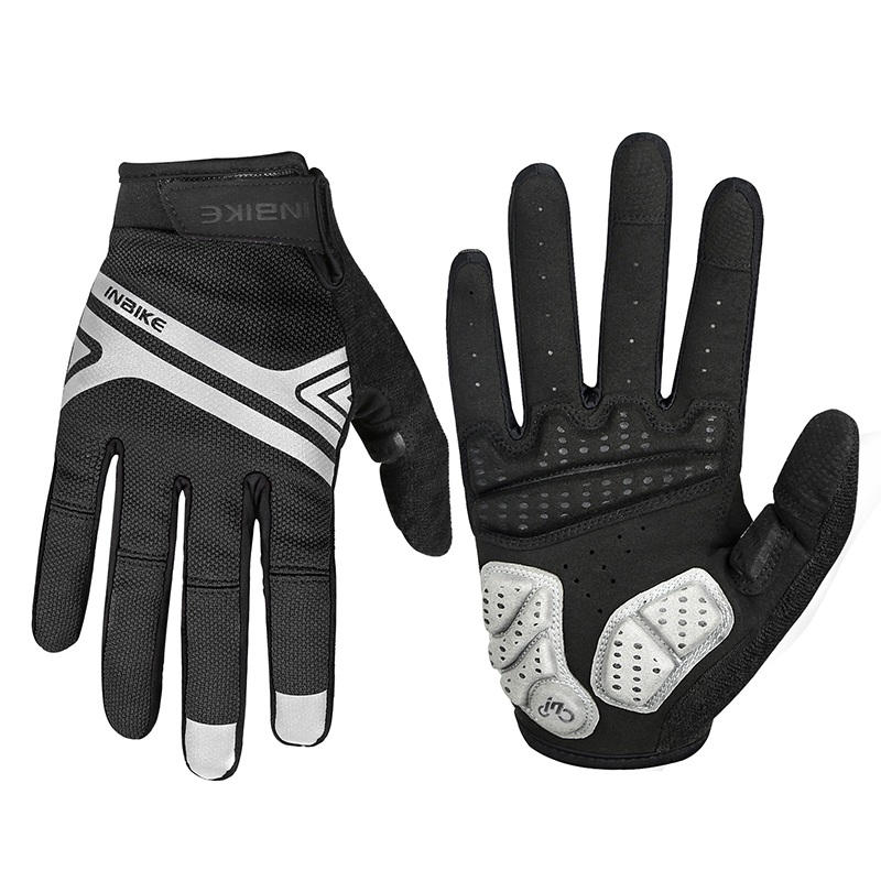 INBIKE 2018 Gloves Full Finger Men Women Protect Wrist Fitness Breathable Weight Lifting Gloves Weightlifting Sport Gloves Moto