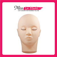 Training Mannequin Head Make Up Face Eyelash Closed Eyes Flat Practice Extension Free Shipping