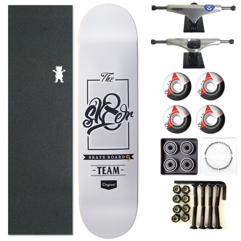 SK8ER Complete Canadian Skateboard Deck 8 8 125 8 25 inch Skate Board Wheels Trucks Bearings