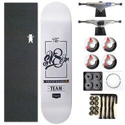 SK8ER Canadense Skate Completo 8/8. 125/8. 25 polegada Rodas De Skate Board & Peças de Caminhões & Rolamentos de Dupla Roqueira Skate