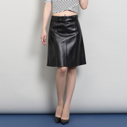 Svadilfari 2018 Европейская мода юбка из натуральной кожи женская винтажная низкая талия юбка офисная Faldas женские юбки Saias (отправить ремень)