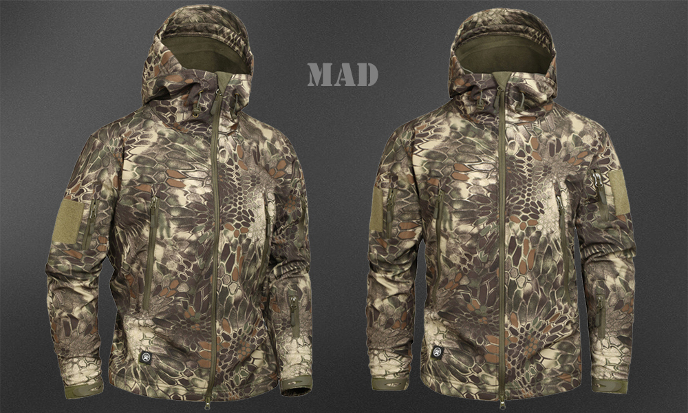Men's Military Camouflage Fleece Jacket Army Tactical Clothing 46