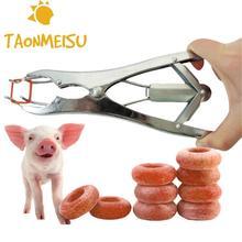 Кольца для кастрации животных из нержавеющей стали, стыковочные плоскогубцы для хвоста свиньи, овцы, Соединительный зажим для Бескровной кастрации, зажим, Новое поступление