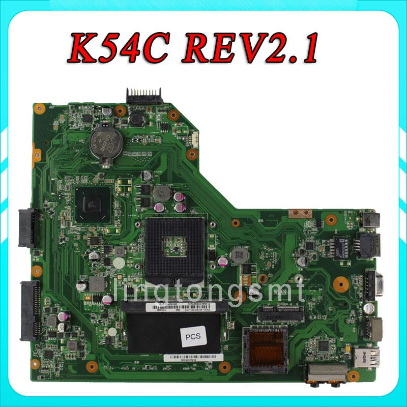 Original K54C X54C X54C motherboard K54C REV2.1 Mainboard DDR3 PGA989 100% tested original k54c a54c x54c motherboard rev2 1 mainboard 4g memory on boacrd ddr3 pga989 100