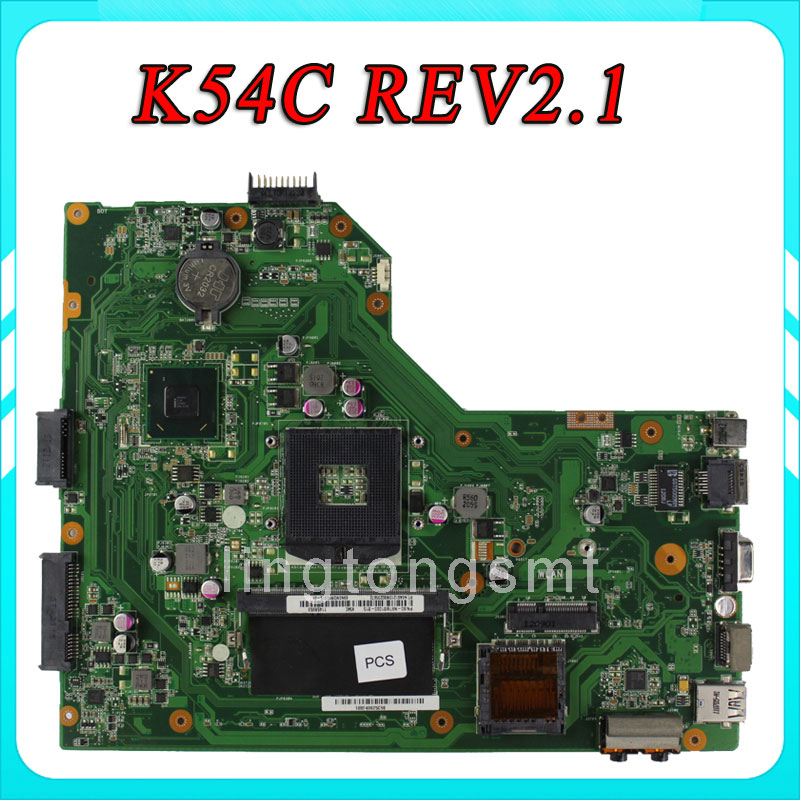 Original K54C X54C X54C motherboard K54C REV2.1 Mainboard DDR3 PGA989 100% tested  original notebook motherboard x54c k54c for asus rev 2 1 system pc mainboard with ram on board