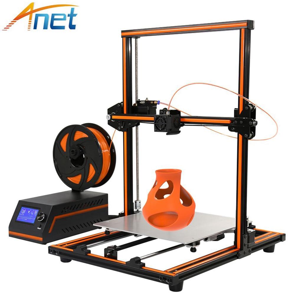 все цены на 2017 High Precision Anet E12 E10 3D Printer Kit Large Printing Size Semi Assembled Metal Desktop Cheap Reprap i3 DIY 3D Printers