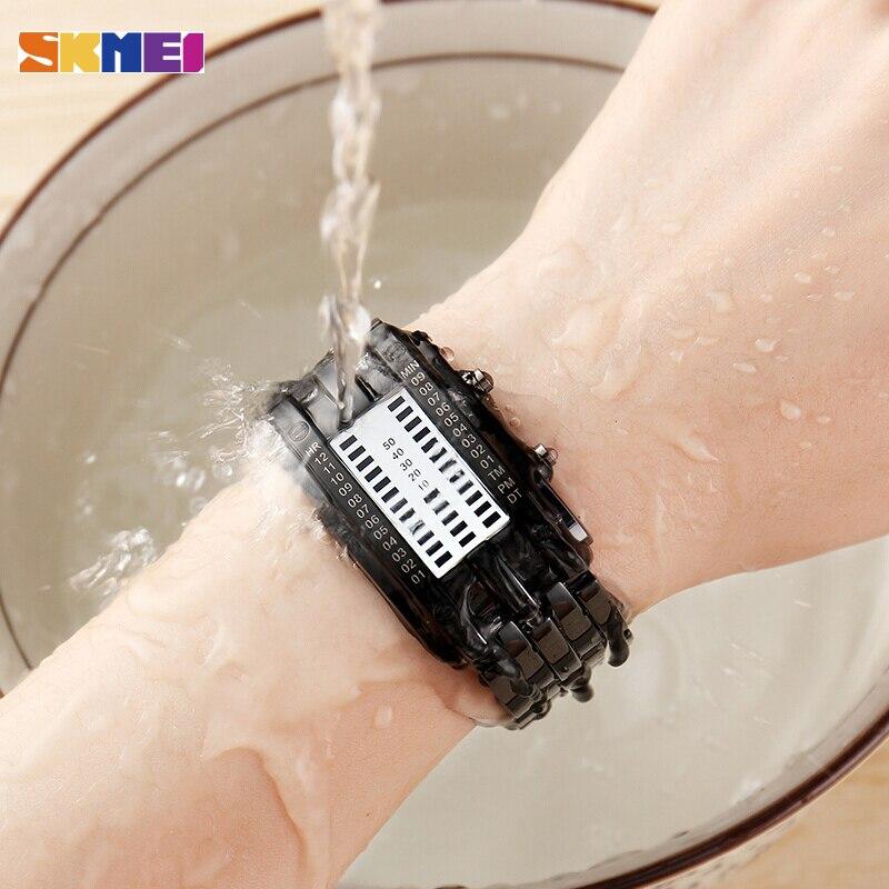 SKMEI Moda Yaratıcı Saatler Erkekler Lüks Marka Dijital LED Ekran - Erkek Saatleri - Fotoğraf 5