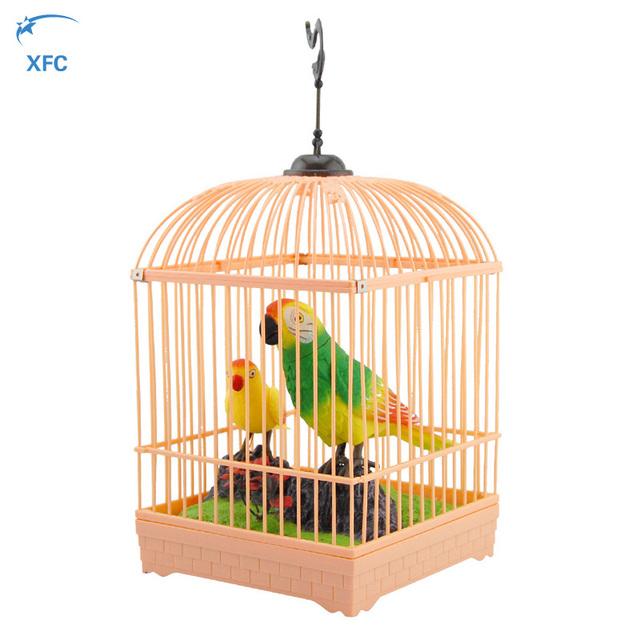 XFC Bebê Crianças Crianças Adulto Elétrica Simulação Pássaro DIY Controle De Som Pássaro Gaiola Para Animais De Estimação Eletrônicos Brinquedos de Presente