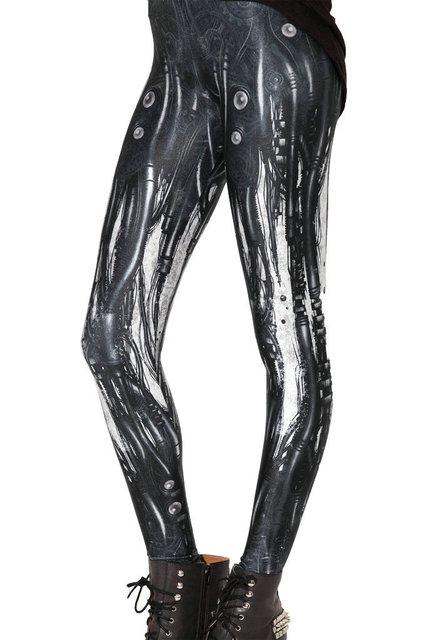 efc32d99e4308 Fashion Design Women Black Galaxy Leggings Space Mechanical steel tube air  bubbles Print Pants Legging GL-19