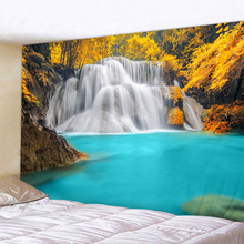 Beautiful Forest Waterfall Printed Large Wall Tapestry Cheap Hippie Hanging Bohemian Tapestries Mandala Art Decor