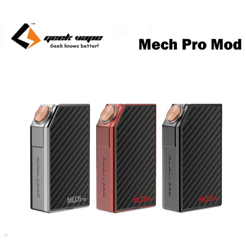 Original GeekVape MECH Pro Mod powered by single/dual 18650 battery  Mechanical Box Mod fit medusa tank No Battery E-cig Vape