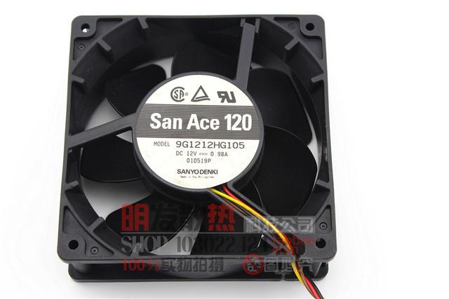 SanAce 12038 0.98A 9G1212HG105 12 V chassis ventilador de refrigeração de entrada
