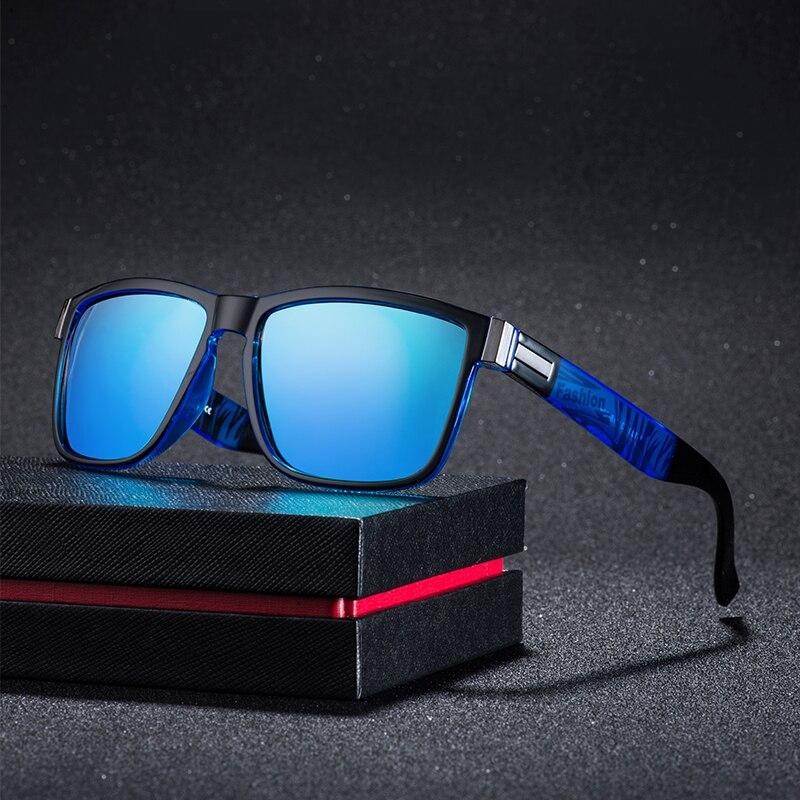 Square Sunglasses Men Vintage Driving Sport 100% UV Protection Fashion Sun Glasses Color Mirror For Men Women