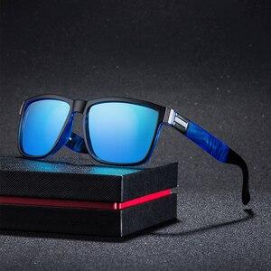Square Sunglasses Men Vintage Driving Sport 100% UV Protection Fashion Sun Glasses Color Mirror for Men Women(China)