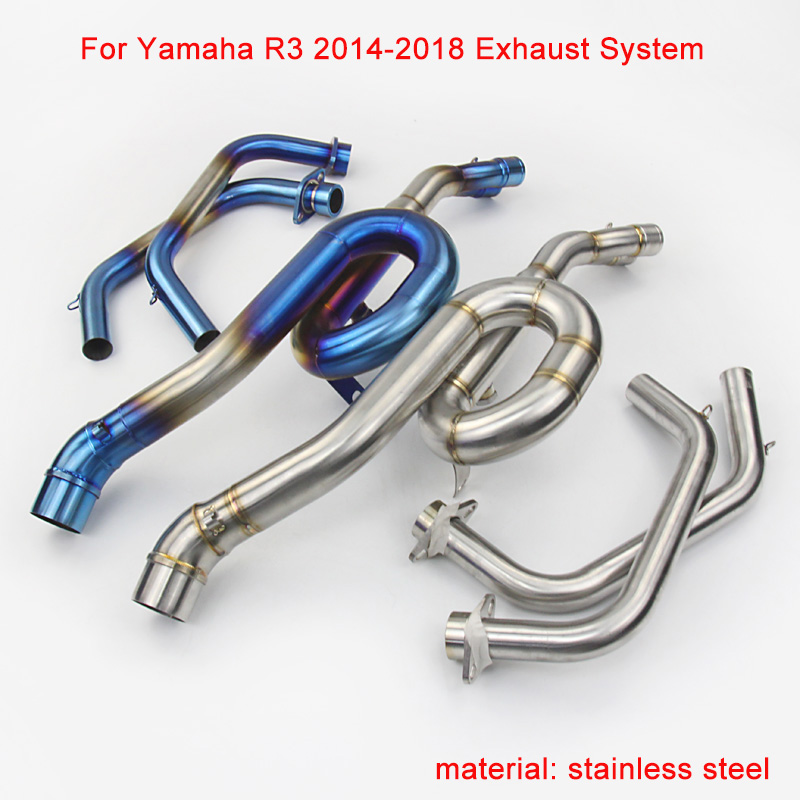2014 2015 2016 2017 2018 for Yamaha YZF R3 Motorcycle Stainless Steel Full Exhaust System silp
