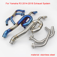 2014 2015 2016 2017 2018 for Yamaha YZF-R3 Motorcycle Stainless Steel Full Exhaust System silp on 51mm Exhaust Muffler Pipe