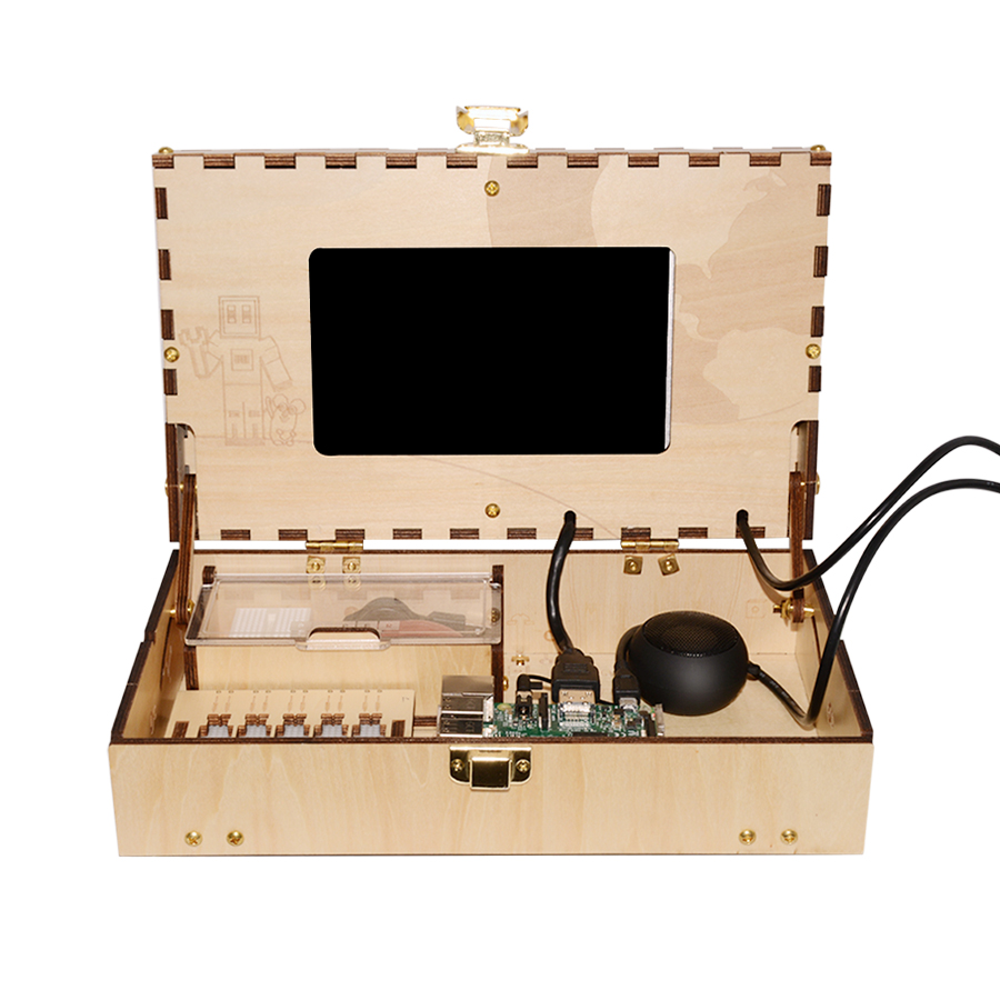 Geeetech Kit de jeu d'ordinateur pour enfants tige et codage jouet d'entraînement basé sur Raspberry Pi panneau de démonstration - 3