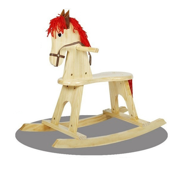 New Kids Wooden Rocking Horse Children Funny Rideon Swing Horse Toys Kids  Photography Props