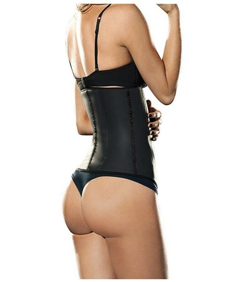2015 offre spéciale!! En gros Latex noir en acier os taille entraînement Cincher sous-vêtements amincissants pour les femmes