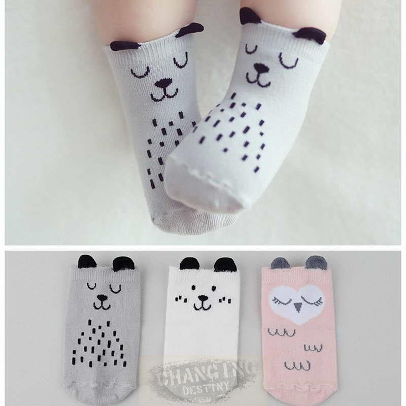 Baby Newborn Infant Cotton Boy Girl Toddler Asymmetry Anti-Slip Floor*Socks 2018