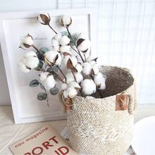 2019 DIY Artificial Flower Branch Fake Plastic Plant Wedding Party Home Decor for living room Cotton Rime Floral