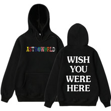 1668d83c378 ASTROWORLD WISH YOU WERE HERE HOODIES fashion letter ASTROWORLD HOODIE  streetwear Man woman suprem Pullover Sweatshirt