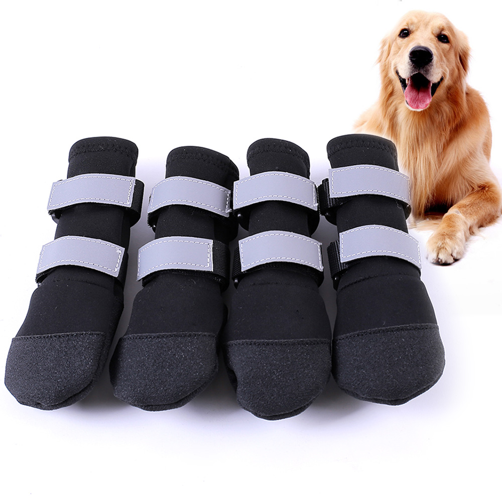 Large Big Dog Sport Shoes Winter Waterproof Pet dog Puppy Martin boots non-slip pitbull golden retriever rain shoes