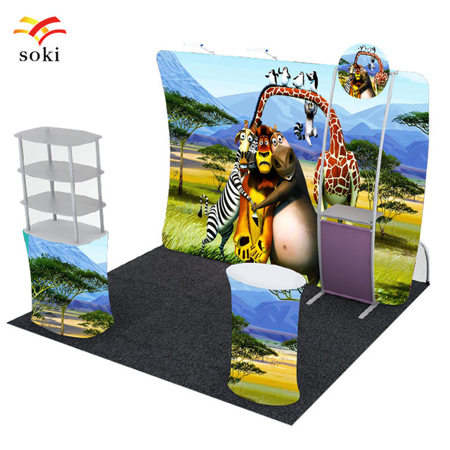 Exhibition Booth Animation : Blank white trade exhibition booth system stand stock illustration