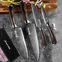 XITUO high end gift kitchen chef knife 4PCS set 8753.5 inch cleaver cut meat and vegetable fruit paparing santoku knife Hot