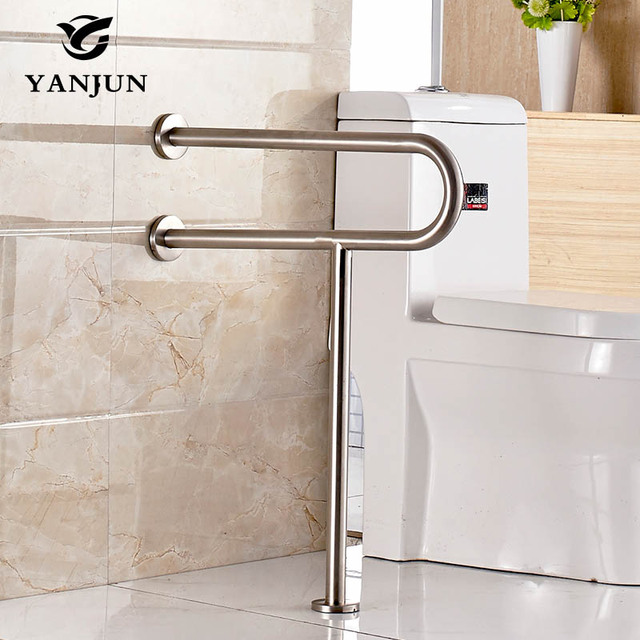 Yanjun Stainless Steel Disability Grab Rail Support Handle Bar Bathroom  Safety Aid Hand Rail Steel YJ