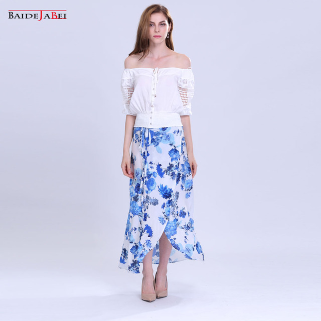 aliexpress : buy baidejiabei skirt 2017 new boho casual cotton