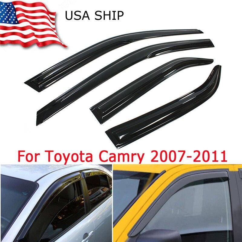 Triclick окно козырек ВС защиту от дождя для Toyota Camry Седан 4dr 2007-2011 2008 2009 2010