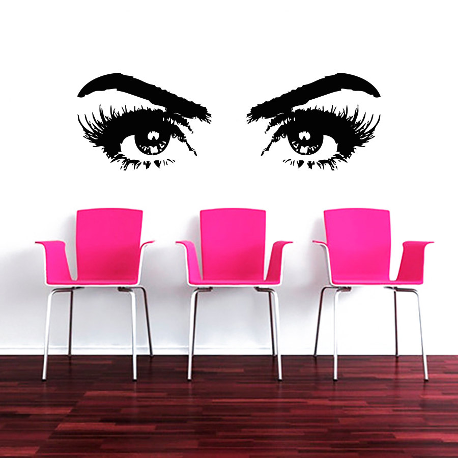 Makeup wall decal vinyl sticker decals art home decor for Deco mural stickers