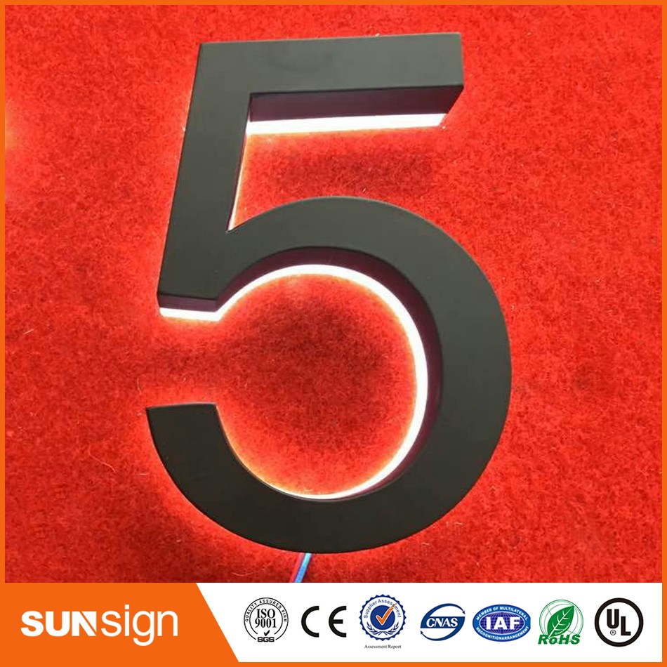 3D Sign Letter Stainless Steel House / Street Number (custom)