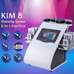 6 IN 1 Echografie Cavitatie Machine 40 K Ultrasone Cavitatie Lipolaser RF Vacuüm Afslanken Body Gewichtsverlies