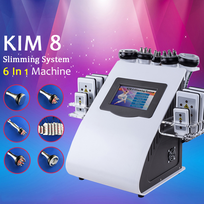 6 IN 1 Ultrasound Cavitation Machine 40K Ultrasonic Cavitation Lipolaser RF Vaccum Slimming Body Weight Loss