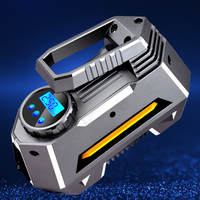 12V 120W 120PSI Airboat Larger Flow Automatic LED Display Digital Emergency Portable Car Air Compressor Tyre Inflator Electric