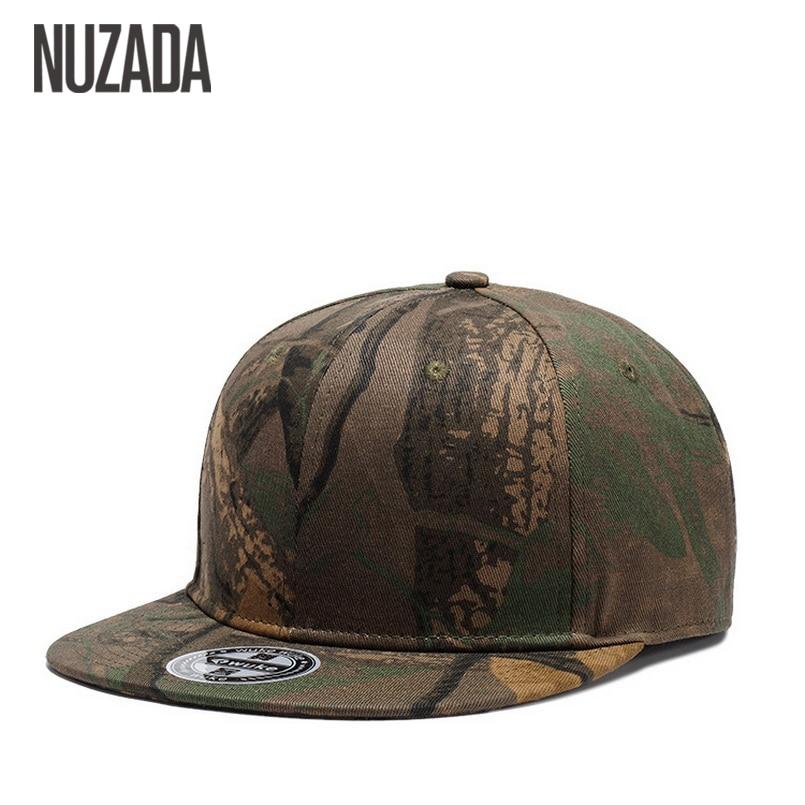 Brands NUZADA   Cap   Snapback Bone   Baseball     Caps   For Men Women Camouflage Graffiti Hip Hop Technology Cotton Spring Summer Hats