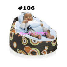 Retro balls 2016 Hot Sell Baby Bean bags Baby sleeping bag, waterproof kids beanbag sofa saet with 2 upper tops