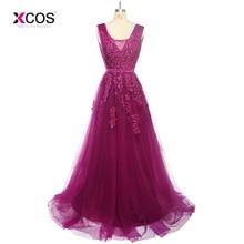 Hosszú Formai Padló Hosszú V-nyakú esküvői ruhák Lila esküvői bankett fesztivál ruha koszorúslány 2018 Prom Dress